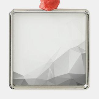 Polygonal Ornement Carré Argenté