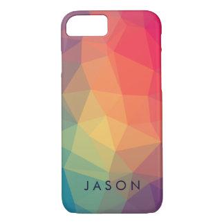 Polygonaux modernes élégants colorés ajoutent coque iPhone 7