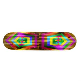 Polygone d'arc-en-ciel skateboards personnalisés