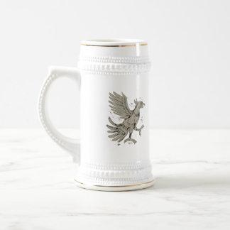 Polygone de symbole de Cuauhtli Glifo Eagle bas Chope À Bière