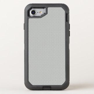 Polymère blanc et gris de fibre de carbone coque otterbox defender pour iPhone 7