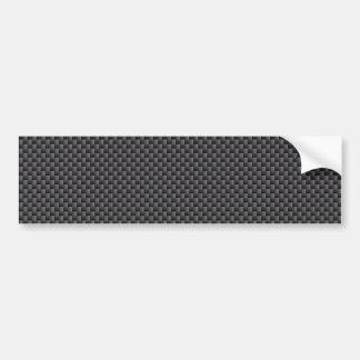 Polymère noir et gris de fibre de carbone autocollant de voiture