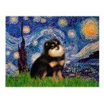 Pomeranian (BT) - nuit étoilée Carte Postale