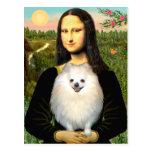 Pomeranian (crème) - Mona Lisa Cartes Postales
