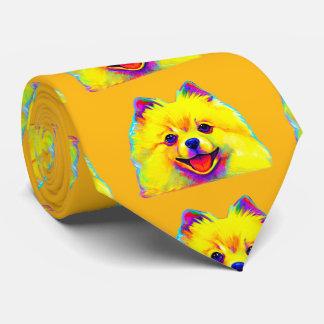 Pomeranian en couleurs cravates