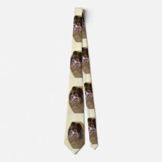 Pomeranian (noir et Tan) Cravates