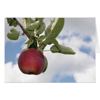 Pomme d'automne et nuages - carte vierge