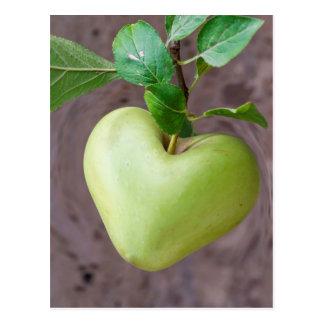 pomme de coeur sur l'arbre carte postale