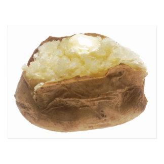 Pomme de terre cuite au four carte postale