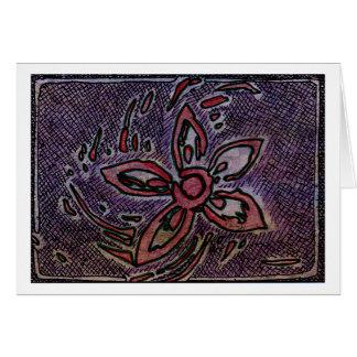 Pomme de terre de fleur découpant avec la croix cartes de vœux