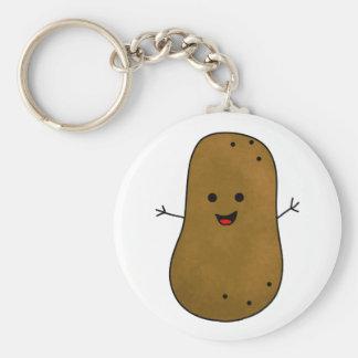Pomme de terre heureuse mignonne porte-clé rond
