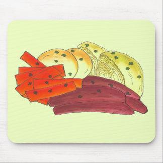 Pomme de terre irlandaise de chou de corned beef tapis de souris