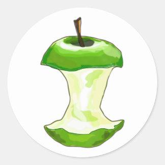 Pomme logement de pomme Apfelbutzen le coeur apple Sticker Rond