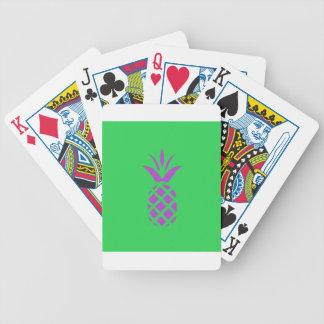 Pomme pourpre de pin en vert jeu de cartes
