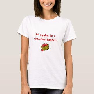 pommes, 24 pommes dans un panier de whicker… t-shirt