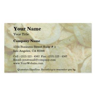 Pommes chips croustillantes carte de visite