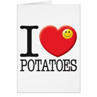 Pommes de terre carte de vœux