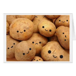 Pommes de terre cartes de vœux