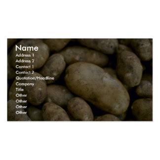 Pommes de terre délicieuses carte de visite standard