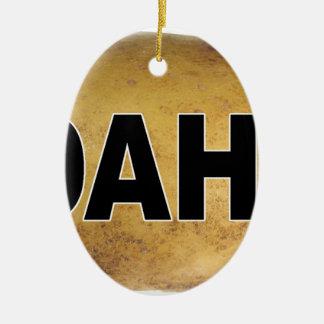 Pommes de terre ovales de décalque de voiture ornement ovale en céramique