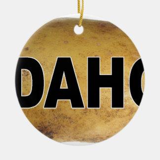 Pommes de terre ovales de décalque de voiture ornement rond en céramique