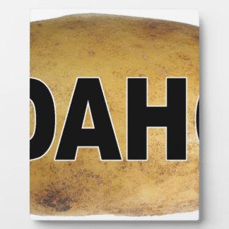 Pommes de terre ovales de décalque de voiture plaque photo
