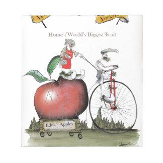 Pommes de Yorkshire d'amour grandes Bloc-note