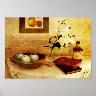Pommes et poires dans un couloir poster