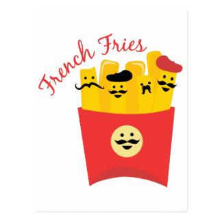 Pommes frites carte postale