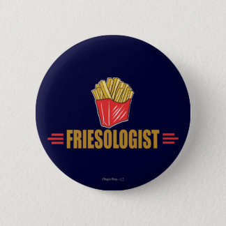 Pommes frites drôles badge
