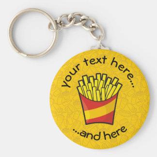 Pommes frites porte-clé rond