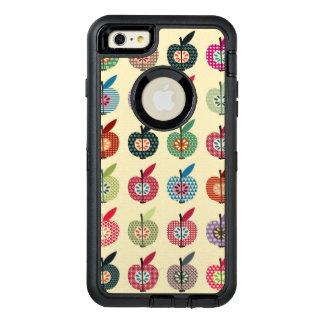 Pommes mignonnes dans le rétro style coque OtterBox iPhone 6 et 6s plus