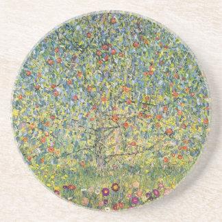 Pommier Par Gustav Klimt, art vintage Nouveau Dessous De Verres