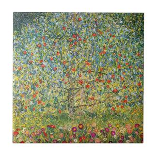 Pommier Par Gustav Klimt Petit Carreau Carré