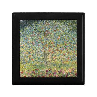 Pommier Par Gustav Klimt Petite Boîte À Bijoux Carrée