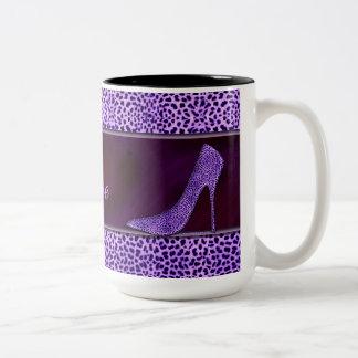 Pompes et guépard pourpres tasse 2 couleurs