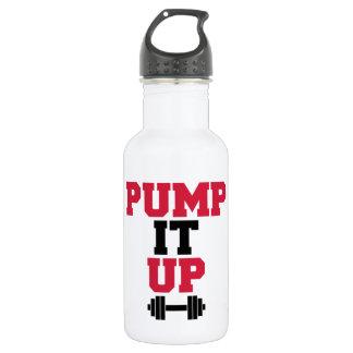 Pompez-le vers le haut de la citation de gymnase bouteille d'eau en acier inoxydable