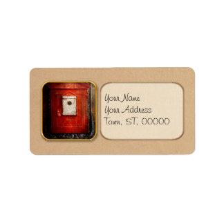 Pompier - la boîte du feu étiquette d'adresse
