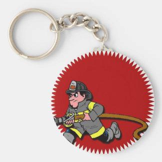 Pompier Porte-clé Rond