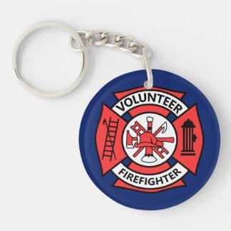 Pompier volontaire porte-clefs