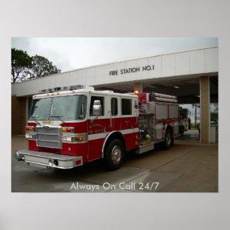 Pompiers de Beaumont Affiche
