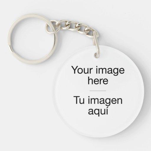 Pon ta conception propre en porte-clefs en blanc