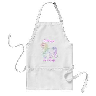 Poney de licorne coloré par arc-en-ciel mignon de  tabliers