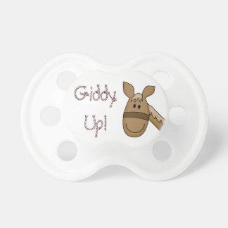 Poney haut étourdi de palomino sucette pour bébé