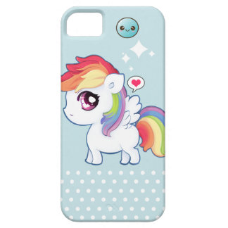 Poney mignon d'arc-en-ciel de Kawaii Coque iPhone 5 Case-Mate
