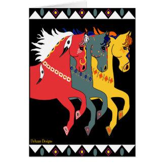 Poneys mystiques toute la carte de voeux
