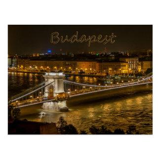 Pont à chaînes de Szechenyi, carte postale de