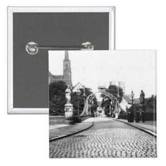 Pont à la cathédrale, Breslau Pologne, c.1910 Pin's