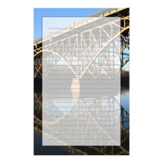 Pont au-dessus de rivière de Schuylkill Papier À Lettre Personnalisable