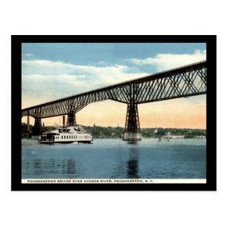 Pont au-dessus du fleuve Hudson, cru de Carte Postale